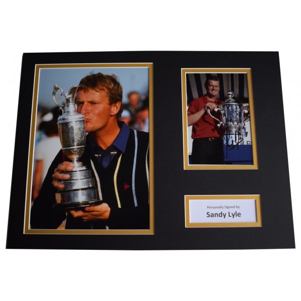 Sandy Lyle SIGNED autograph 16x12 photo mount display Golf Sport  AFTAL &  COA Memorabilia PERFECT GIFT