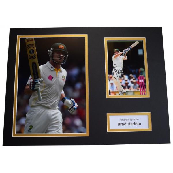 Brad Haddin SIGNED autograph 16x12 photo mount display Australia Cricket  AFTAL &  COA Memorabilia PERFECT GIFT