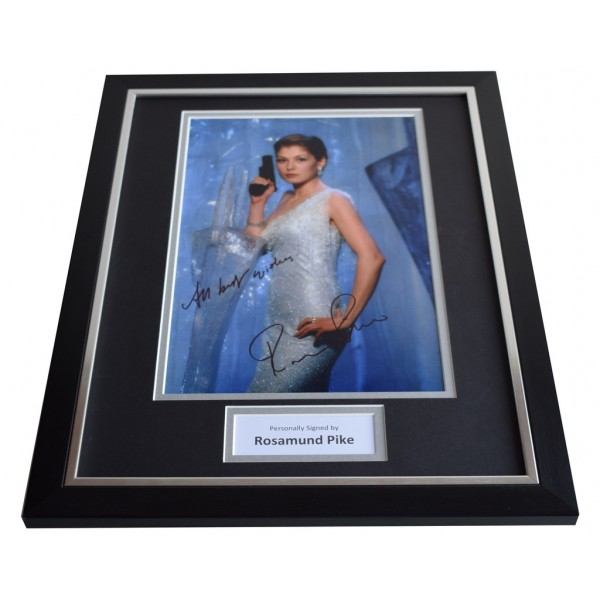 Rosamund Pike SIGNED FRAMED Photo Autograph 16x12 display James Bond Film  AFTAL & COA Memorabilia PERFECT GIFT