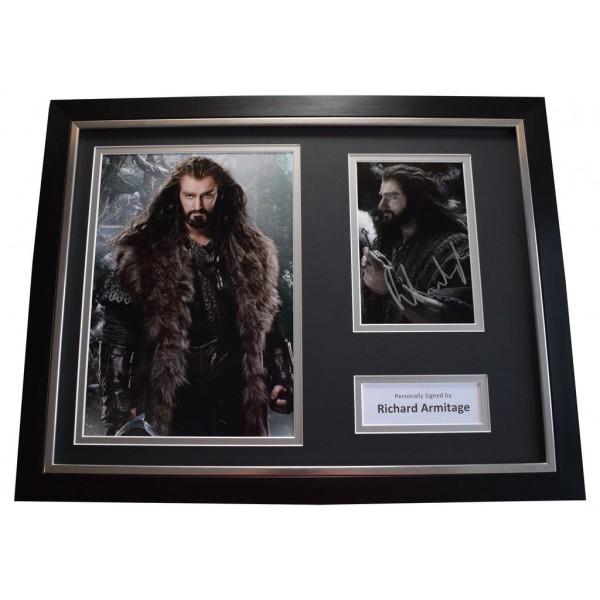 Richard Armitage SIGNED FRAMED Photo Autograph 16x12 display Hobbit Film  AFTAL &  COA Memorabilia PERFECT GIFT
