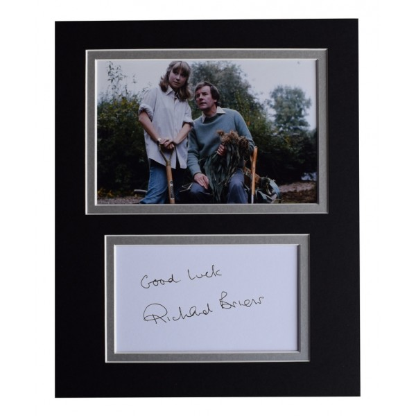 Richard Briers Signed Autograph 10x8 photo display TV The Good Life   AFTAL  COA Memorabilia PERFECT GIFT