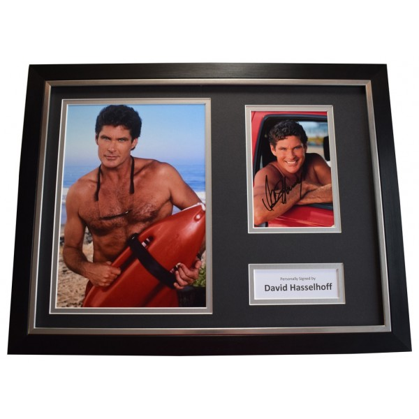 David Hasselhoff SIGNED FRAMED Photo Autograph 16x12 display Baywatch TV   AFTAL &  COA Memorabilia PERFECT GIFT