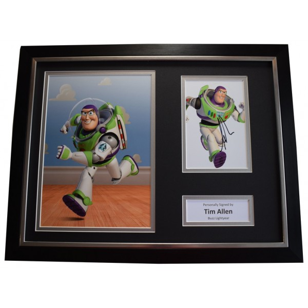 Tim Allen SIGNED FRAMED Photo Autograph 16x12 display Film Toy Story Buzz   AFTAL &  COA Memorabilia PERFECT GIFT
