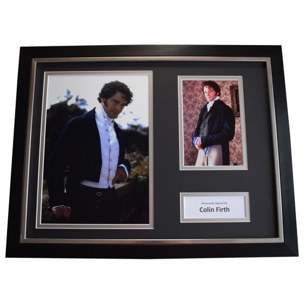 Colin Firth SIGNED FRAMED Photo Autograph 16x12 display Pride & Prejudice AFTAL &  COA Memorabilia PERFECT GIFT