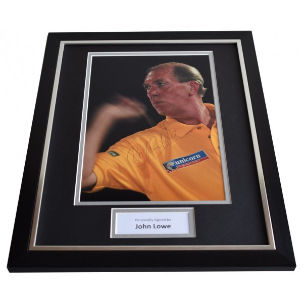 John Lowe SIGNED FRAMED Photo Autograph 16x12 display Darts Sport  AFTAL & COA Memorabilia PERFECT GIFT