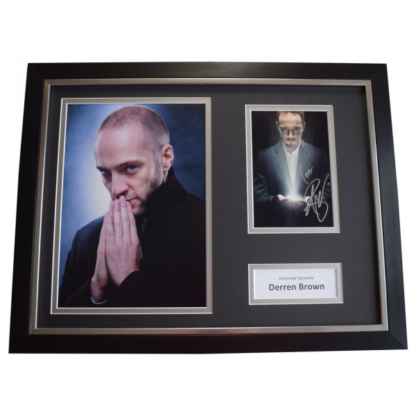 Derren Brown SIGNED FRAMED Photo Autograph 16x12 display TV Miracle   AFTAL &  COA Memorabilia PERFECT GIFT