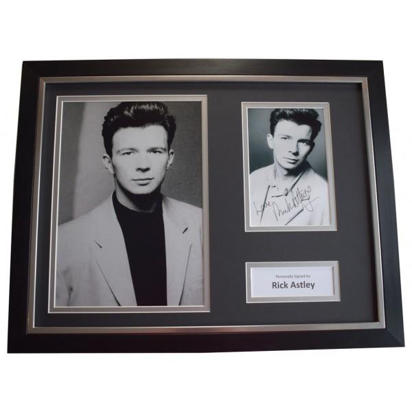 Rick Astley SIGNED FRAMED Photo Autograph 16x12 display Music Pop  AFTAL &  COA Memorabilia PERFECT GIFT
