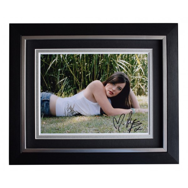 Michelle Ryan SIGNED 10x8 FRAMED Photo Autograph Display Eastenders Dr Who   AFTAL  COA Memorabilia PERFECT GIFT