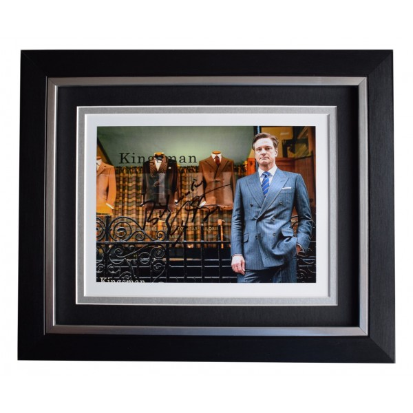 Colin Firth SIGNED 10x8 FRAMED Photo Autograph Display Kingsman Film  AFTAL  COA Memorabilia PERFECT GIFT