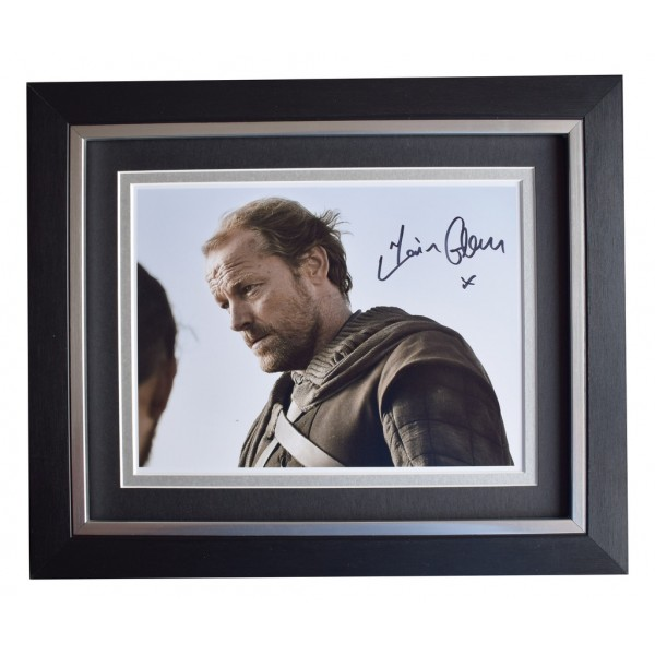 Iain Glen SIGNED 10x8 FRAMED Photo Autograph Display Game of Thrones  AFTAL  COA Memorabilia PERFECT GIFT