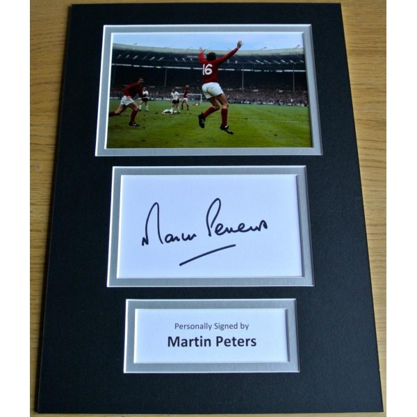 MARTIN PETERS HAND SIGNED AUTOGRAPH A4 PHOTO DISPLAY ENGLAND WORLD CUP GIFT COA