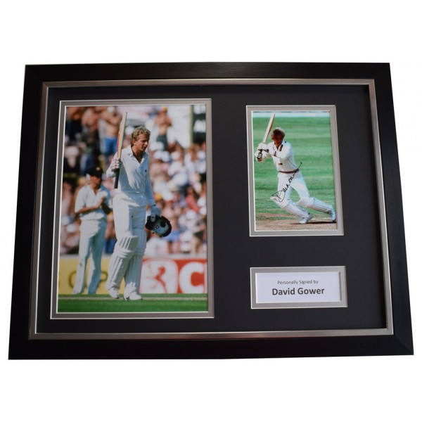 David Gower SIGNED FRAMED Photo Autograph 16x12 display Cricket AFTAL &  COA Memorabilia PERFECT GIFT