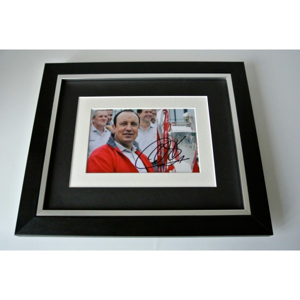 Rafa Benitez SIGNED 10x8 FRAMED Photo Autograph Display Liverpool Football & COA  PERFECT GIFT