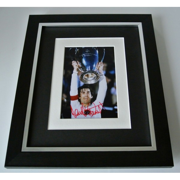 Dennis Mortimer SIGNED 10x8 FRAMED Photo Autograph Display Aston Villa & COA  PERFECT GIFT
