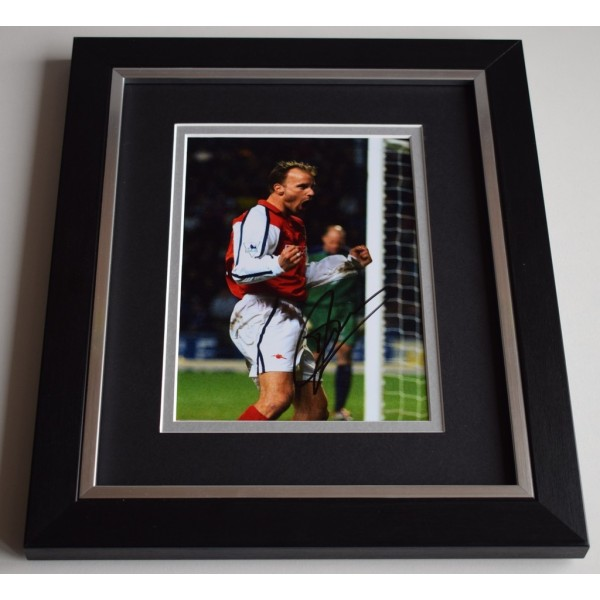 Dennis Bergkamp SIGNED 10X8 FRAMED Photo Autograph Arsenal Football Display AFTAL & COA Memorabilia PERFECT GIFT