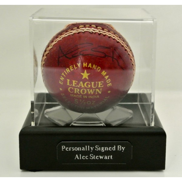 Alec Stewart Signed Autograph Cricket Ball Display Case England Ashes & COA   PERFECT GIFT