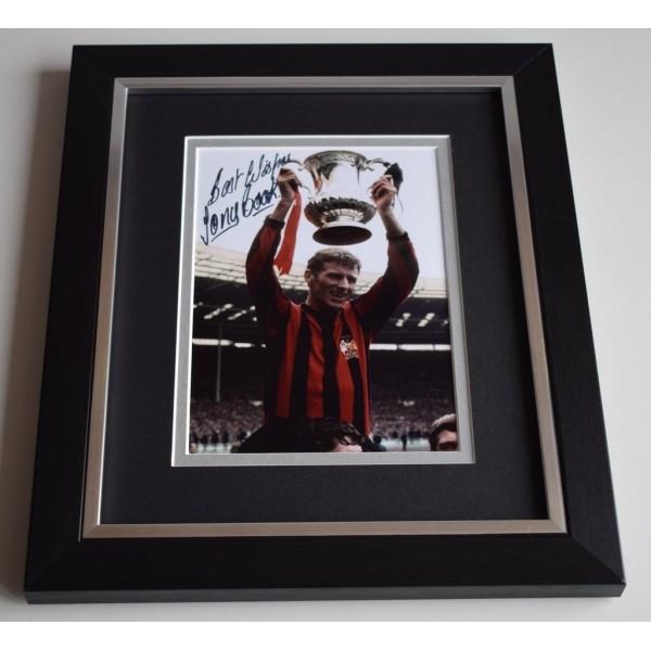 Tony Book SIGNED 10X8 FRAMED Photo Autograph Manchester City Display AFTAL & COA Memorabilia PERFECT GIFT