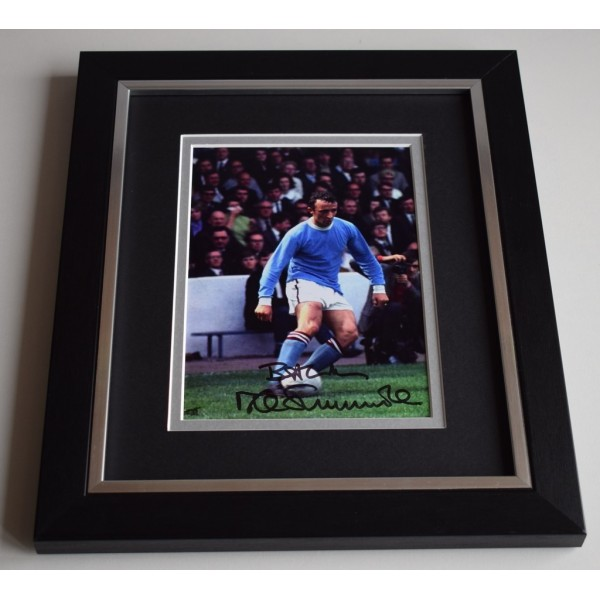 Mike Summerbee SIGNED 10X8 FRAMED Photo Autograph Manchester City Display  AFTAL & COA Memorabilia PERFECT GIFT