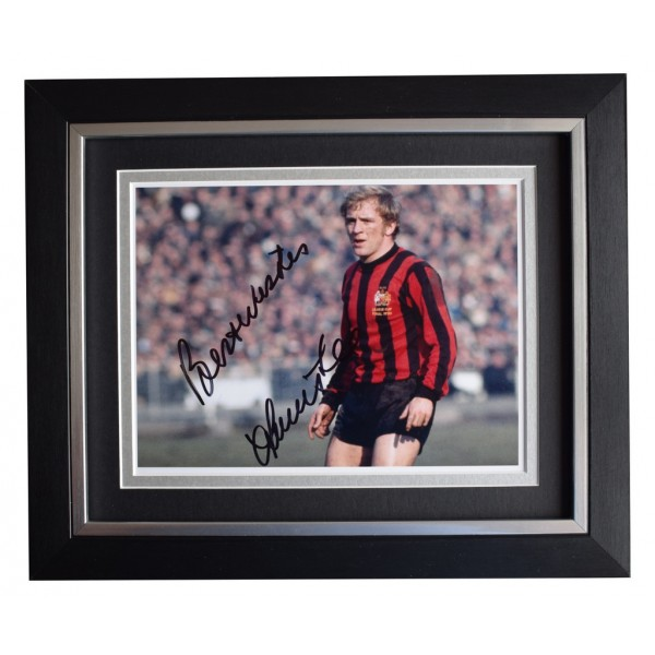 Francis Lee SIGNED 10x8 FRAMED Photo Autograph Display Manchester City AFTAL  COA Memorabilia PERFECT GIFT