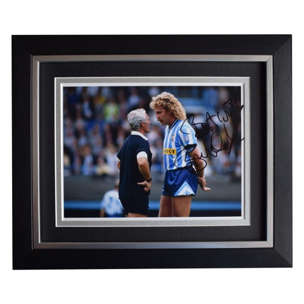 Brian Kilcline SIGNED 10x8 FRAMED Photo Autograph Display Coventry City AFTAL  COA Memorabilia PERFECT GIFT