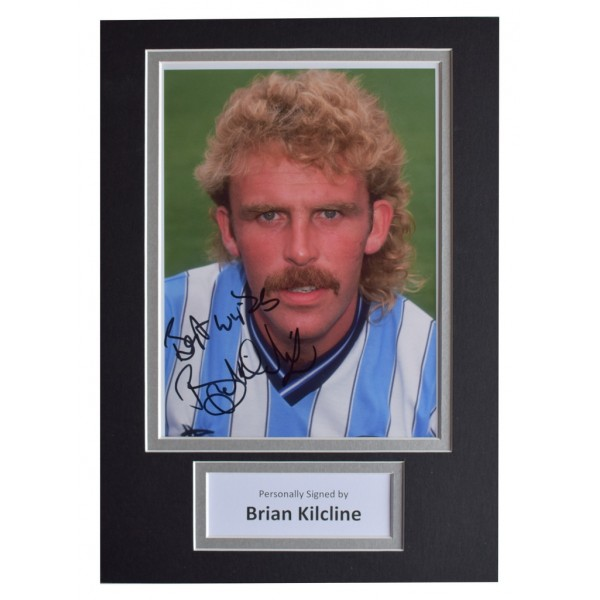 Brian Kilcline Signed Autograph A4 photo display Coventry City Football AFTAL  COA Memorabilia PERFECT GIFT