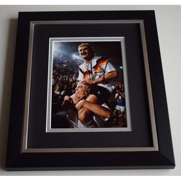 Rudi Voller SIGNED 10X8 FRAMED Photo Autograph Germany Football AFTAL & COA Memorabilia PERFECT GIFT