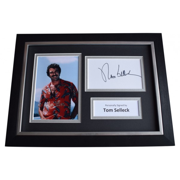 Tom Selleck Signed A4 FRAMED Autograph Photo Display Magnum TV  AFTAL  COA Memorabilia PERFECT GIFT