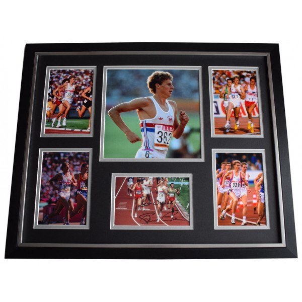 Steve Cram SIGNED Framed Photo Autograph Huge display Olympics  AFTAL &  COA Memorabilia PERFECT GIFT