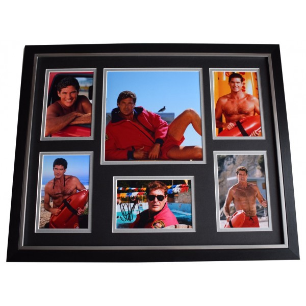 David Hasselhoff SIGNED Framed Photo Autograph Huge display Baywatch  AFTAL &  COA Memorabilia PERFECT GIFT