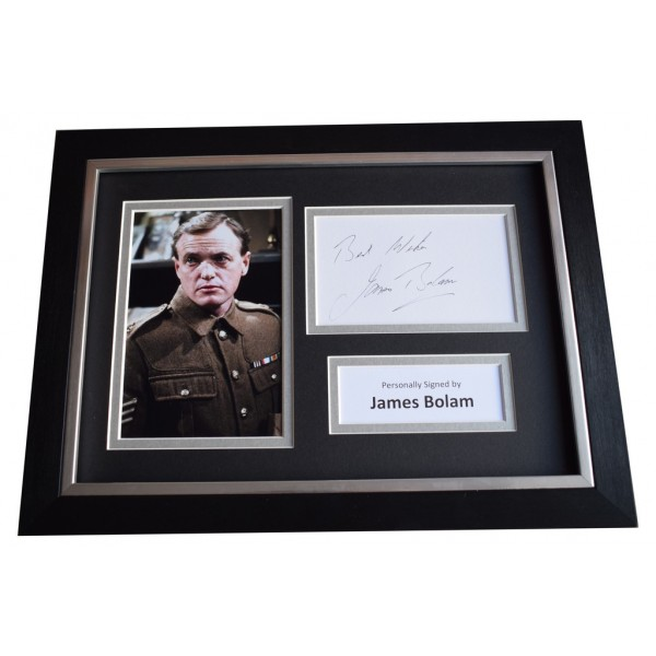 James Bolam Signed A4 FRAMED Autograph Photo Display When the Boat Comes in  AFTAL  COA Memorabilia PERFECT GIFT