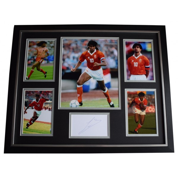 Ruud Gullit SIGNED Framed Photo Autograph Huge display Holland Football  AFTAL &  COA Memorabilia PERFECT GIFT