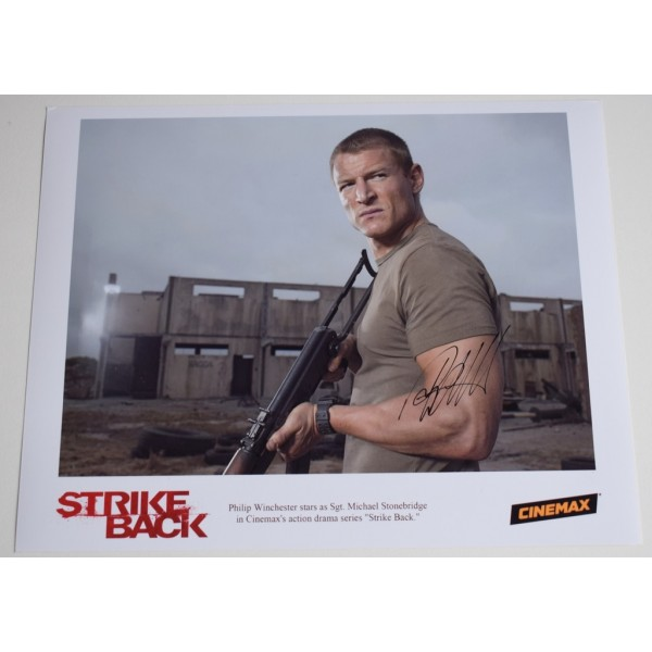 Philip Winchester Signed Autograph 10x8 official photo AFTAL Strike Back TV   AFTAL  COA Memorabilia PERFECT GIFT