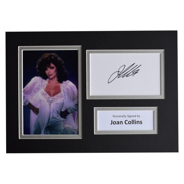 Joan Collins Signed Autograph A4 photo display Dynasty TV  AFTAL  COA Memorabilia PERFECT GIFT
