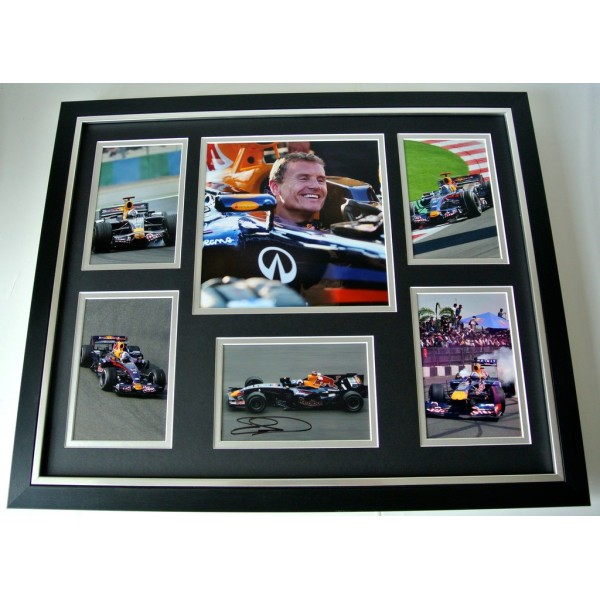 David Coulthard SIGNED FRAMED Huge Photo Autograph display Formula 1 Sport & COA   PERFECT GIFT