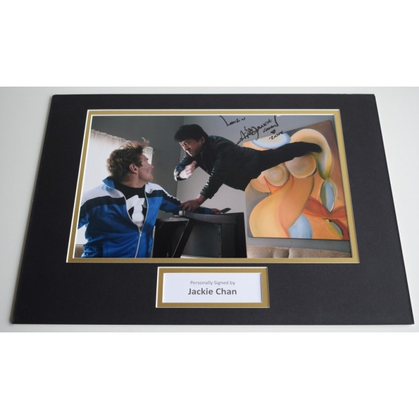 Jackie Chan SIGNED autograph 16x12 photo display Film Karate Martial Arts AFTAL & COA Memorabilia PERFECT GIFT