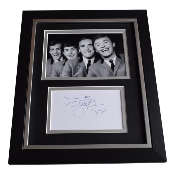 Gerry Marsden SIGNED 10x8 FRAMED Photo Mount Autograph Display Music  AFTAL  COA Memorabilia PERFECT GIFT