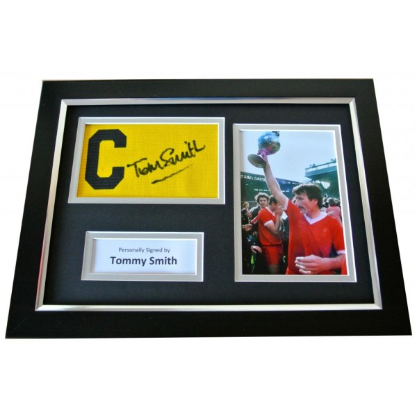 Tommy Smith Signed FRAMED Captains Armband A4 Photo Display Liverpool PROOF COA PERFECT GIFT