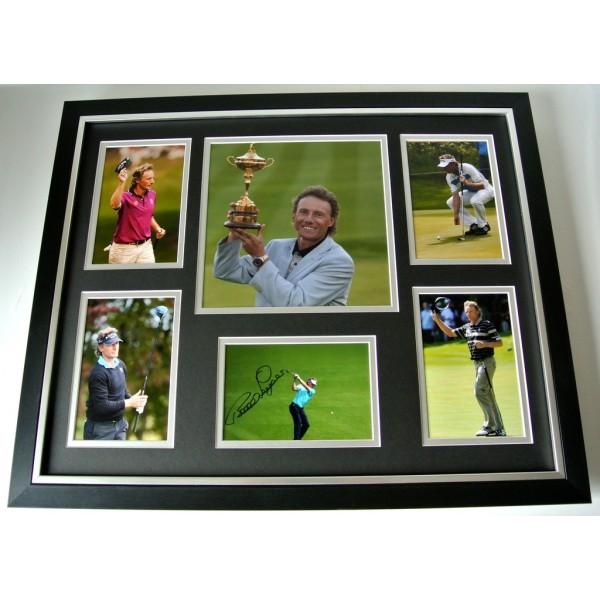 Bernhard Langer SIGNED FRAMED Huge Photo Autograph display Golf Sport & COA    PERFECT GIFT