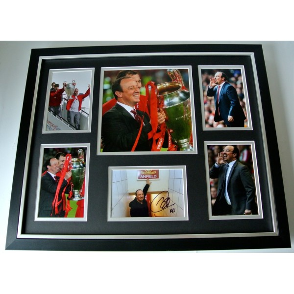 Rafa Benitez SIGNED FRAMED Huge Photo Autograph display Liverppol Football & COA    PERFECT GIFT
