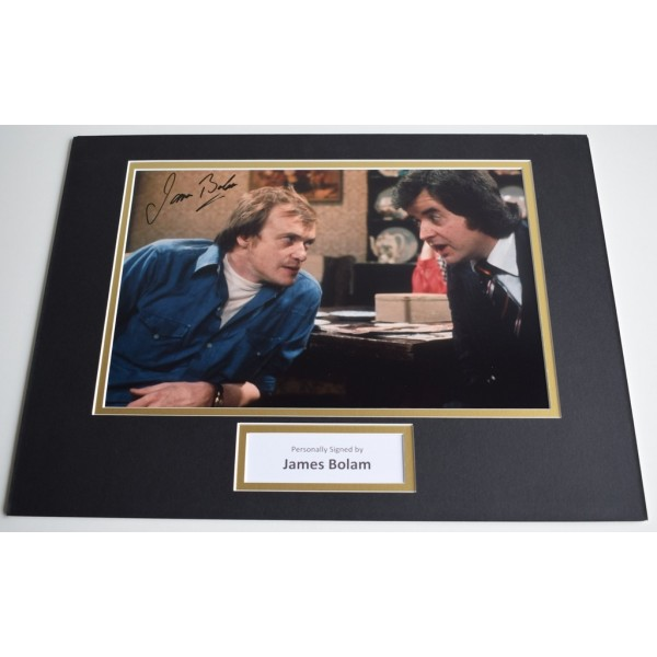 James Bolam SIGNED autograph 16x12 photo display TV The Likely Lads  AFTAL & COA Memorabilia PERFECT GIFT