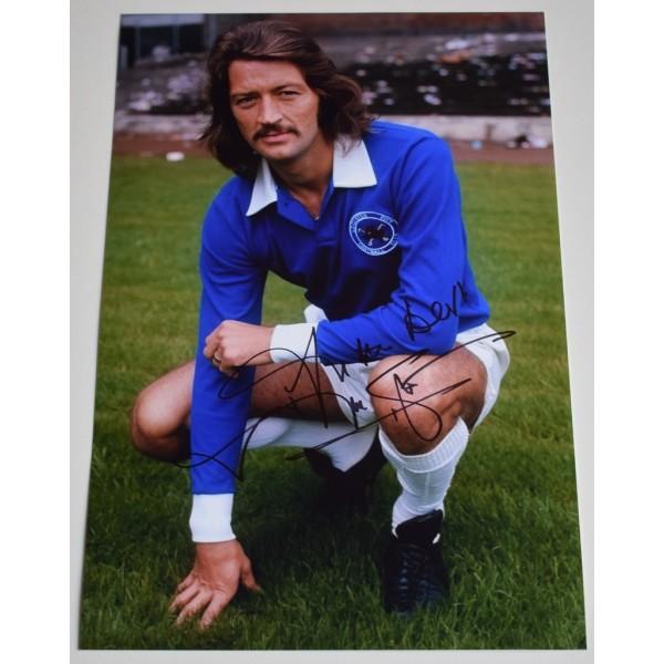 Frank Worthington SIGNED 12x8 Photo Autograph Leicester City  AFTAL &  COA Memorabilia PERFECT GIFT