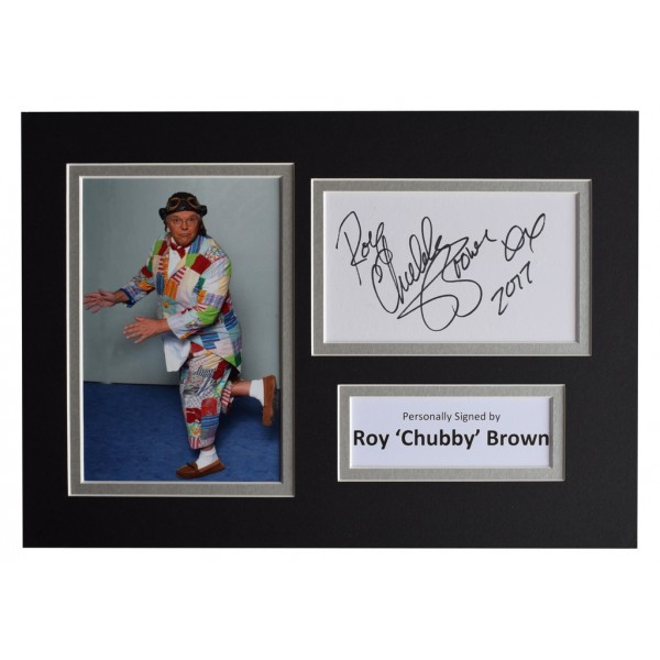 Roy 'Chubby' Brown Signed Autograph A4 photo display Comedy TV   AFTAL  COA Memorabilia PERFECT GIFT