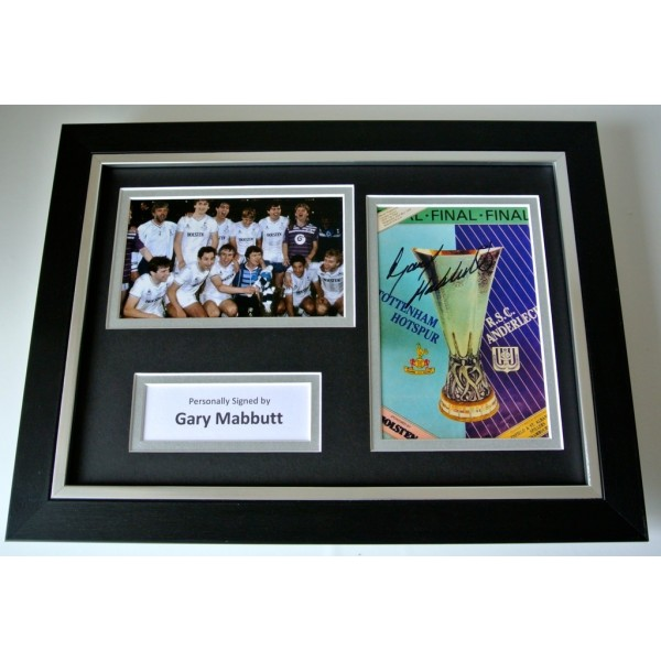 Gary Mabbutt Signed A4 FRAMED photo Autograph display Tottenham Hotspur PROOF     PERFECT GIFT