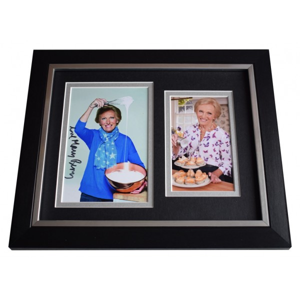 Mary Berry SIGNED 10x8 FRAMED Photo Autograph Display Great British Bake Off   AFTAL  COA Memorabilia PERFECT GIFT