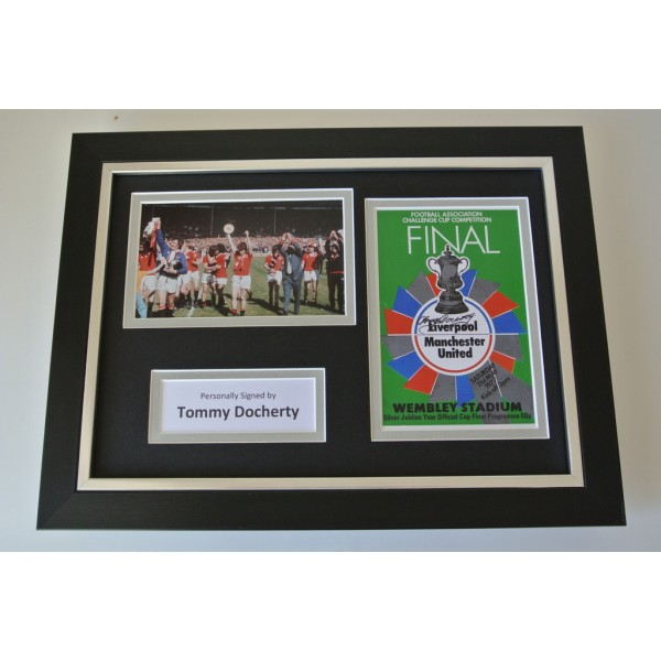 Tommy Docherty Signed A4 FRAMED photo Autograph display Manchester United PROOF    PERFECT GIFT