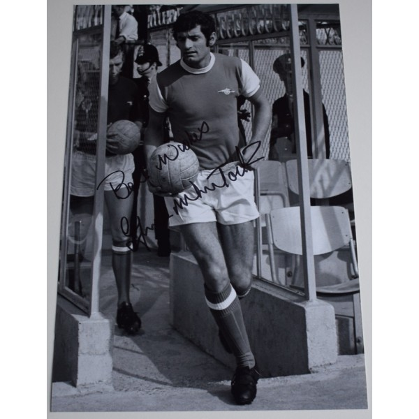 Frank McLintock SIGNED 12x8 Photo Autograph Arsenal Football Sport AFTAL &  COA Memorabilia PERFECT GIFT