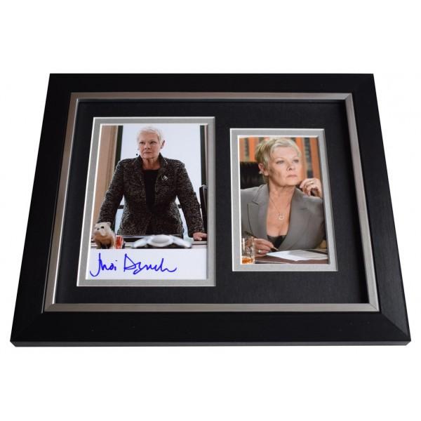 Judi Dench SIGNED 10x8 FRAMED Photo Autograph Display James Bond   AFTAL  COA Memorabilia PERFECT GIFT