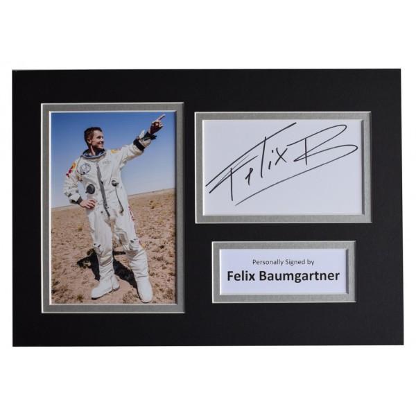Felix Baumgartner Signed Autograph A4 photo mount display Space Jump AFTAL  COA Memorabilia PERFECT GIFT