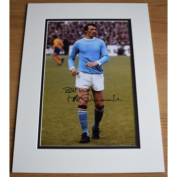 Mike Summerbee SIGNED autograph 16x12 photo display Manchester City Football   AFTAL &  COA Memorabilia PERFECT GIFT