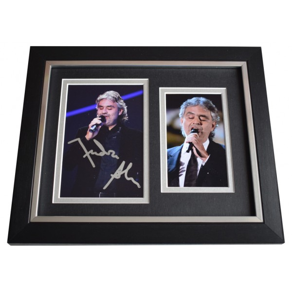 Andrea Bocelli SIGNED 10x8 FRAMED Photo Autograph Display  Music Opera AFTAL  COA Memorabilia PERFECT GIFT
